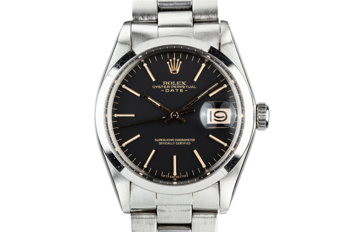 1972 Rolex Date 1500 Black and Gold Sigma Dial photo