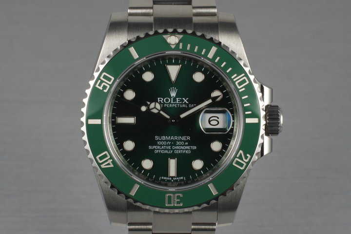 2012 Rolex Green Submariner 116610V with Box and Papers photo