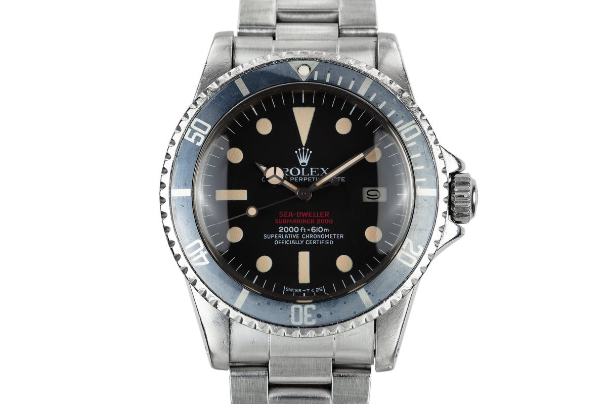 1975 Rolex Double Red Sea Dweller 1665 Mark IV Dial with Box and Papers photo, #0