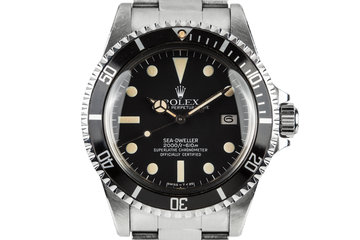 1983 Rolex Sea-Dweller 1665 With Box and Papers photo