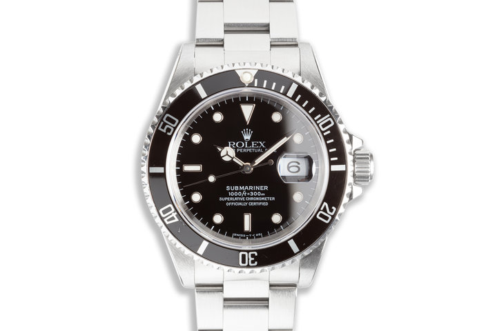 1996 Rolex Submariner 16610 with Box & Papers photo