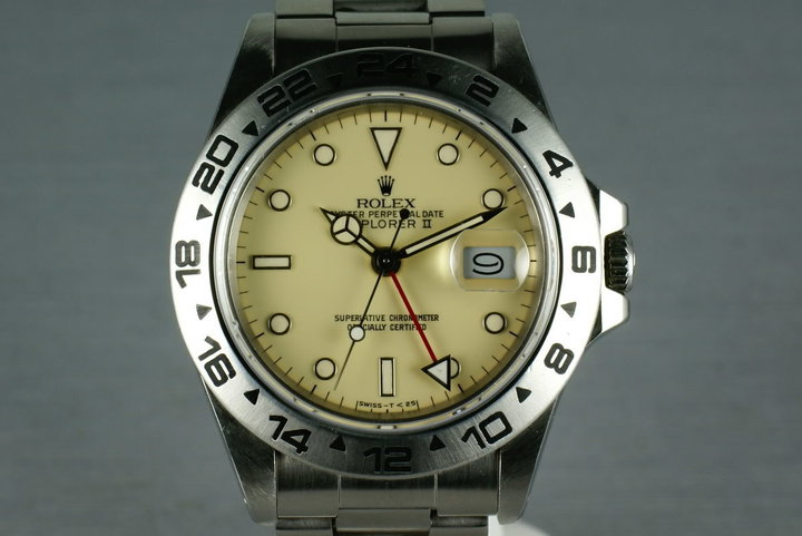 Rolex Explorer II  16550  Cream Dial with Papers photo