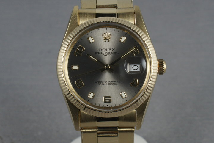 Rolex Date 15037 with Riveted band with 57 end pieces photo