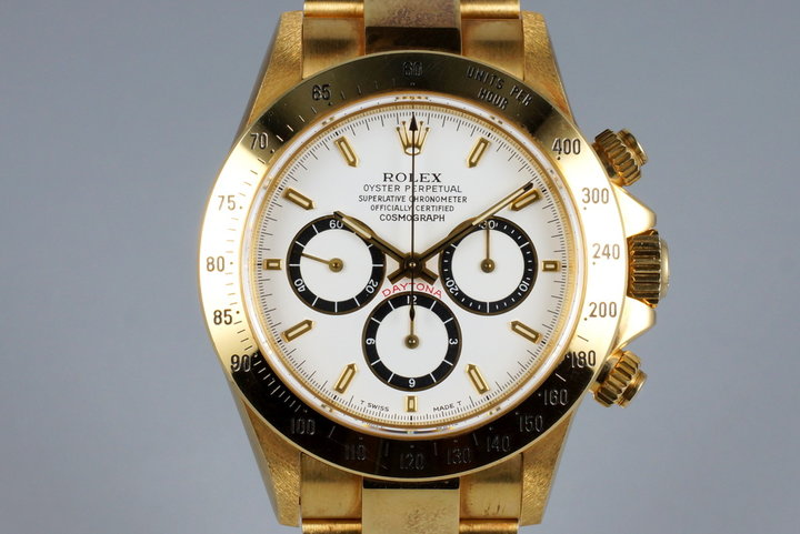 1991 Rolex YG Zenith Daytona 16528 White Dial photo