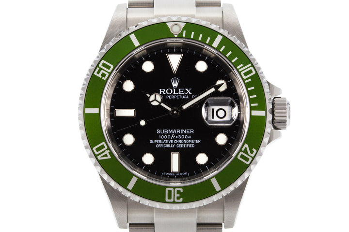 2006 Rolex Green Submariner 16610V photo