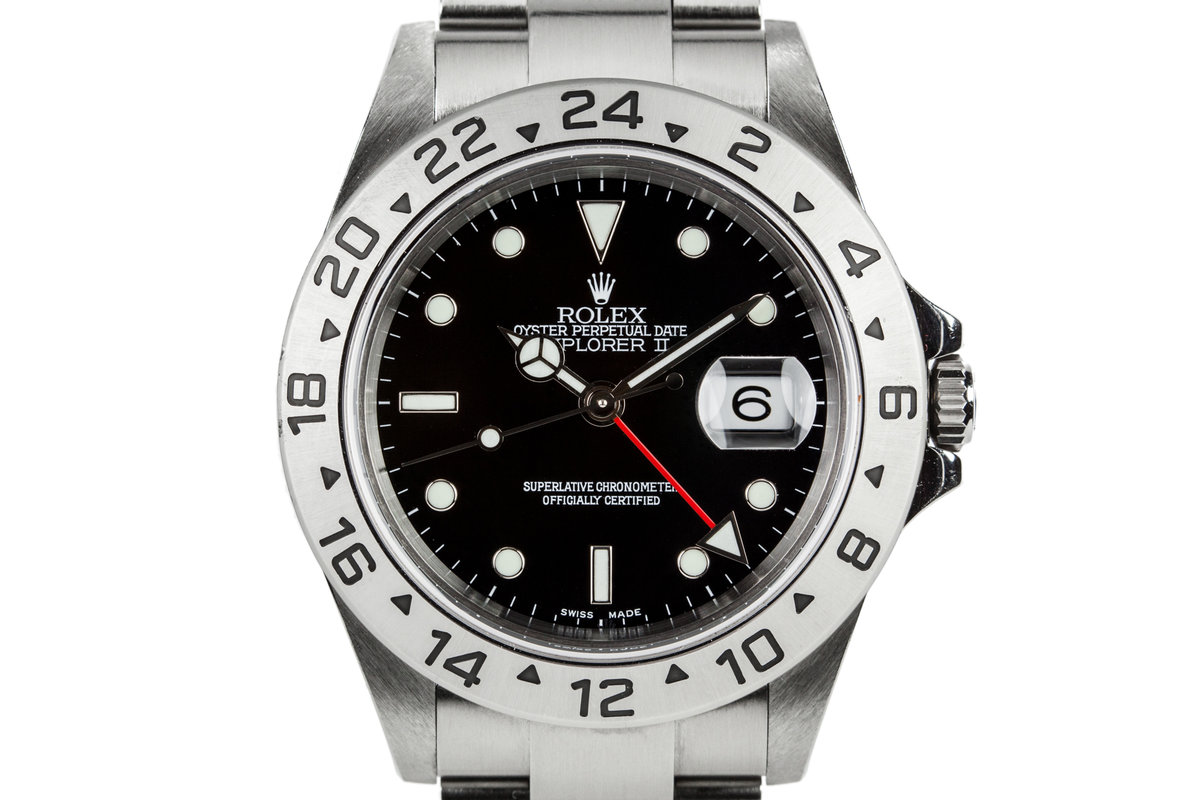 2005 Rolex Explorer II 16570 Black Dial photo, #0