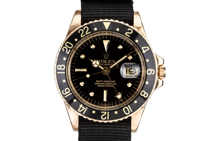 1975 Rolex 18K Gold GMT-Master 1675 with Black Nipple Dial photo