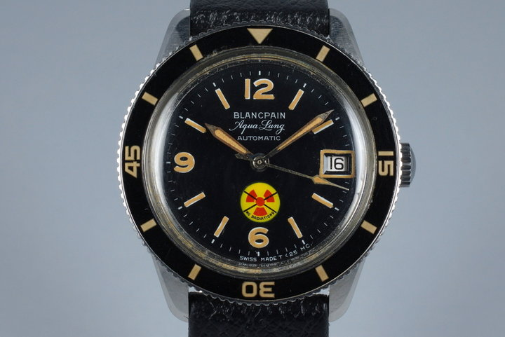 Early 1960's Blancpain 50 Fathoms 'No Radiations' Aqua Lung photo