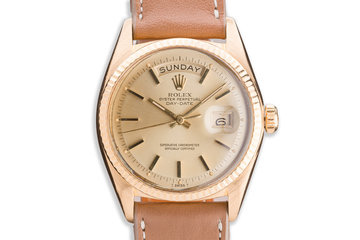 1968 Vintage Rolex 18K YG Day-Date 1803 Champagne Dial photo