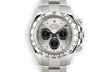 2018 Rolex 18K WG Daytona 116509 Silver Dial with Box and Papers photo