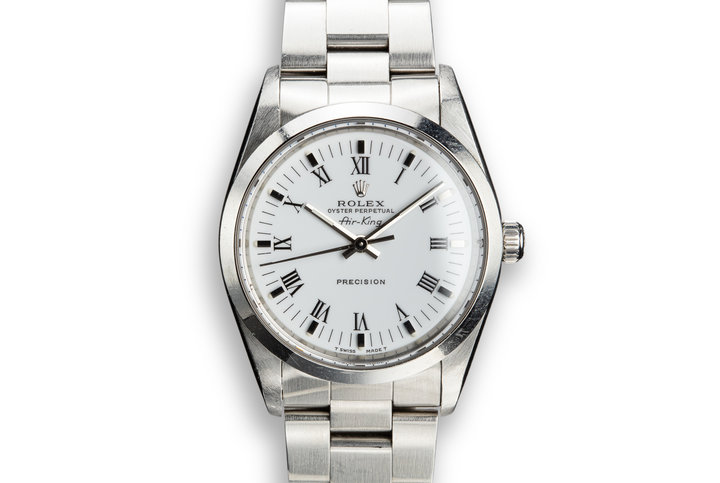 1991 Rolex Air-King 14000 White Dial photo