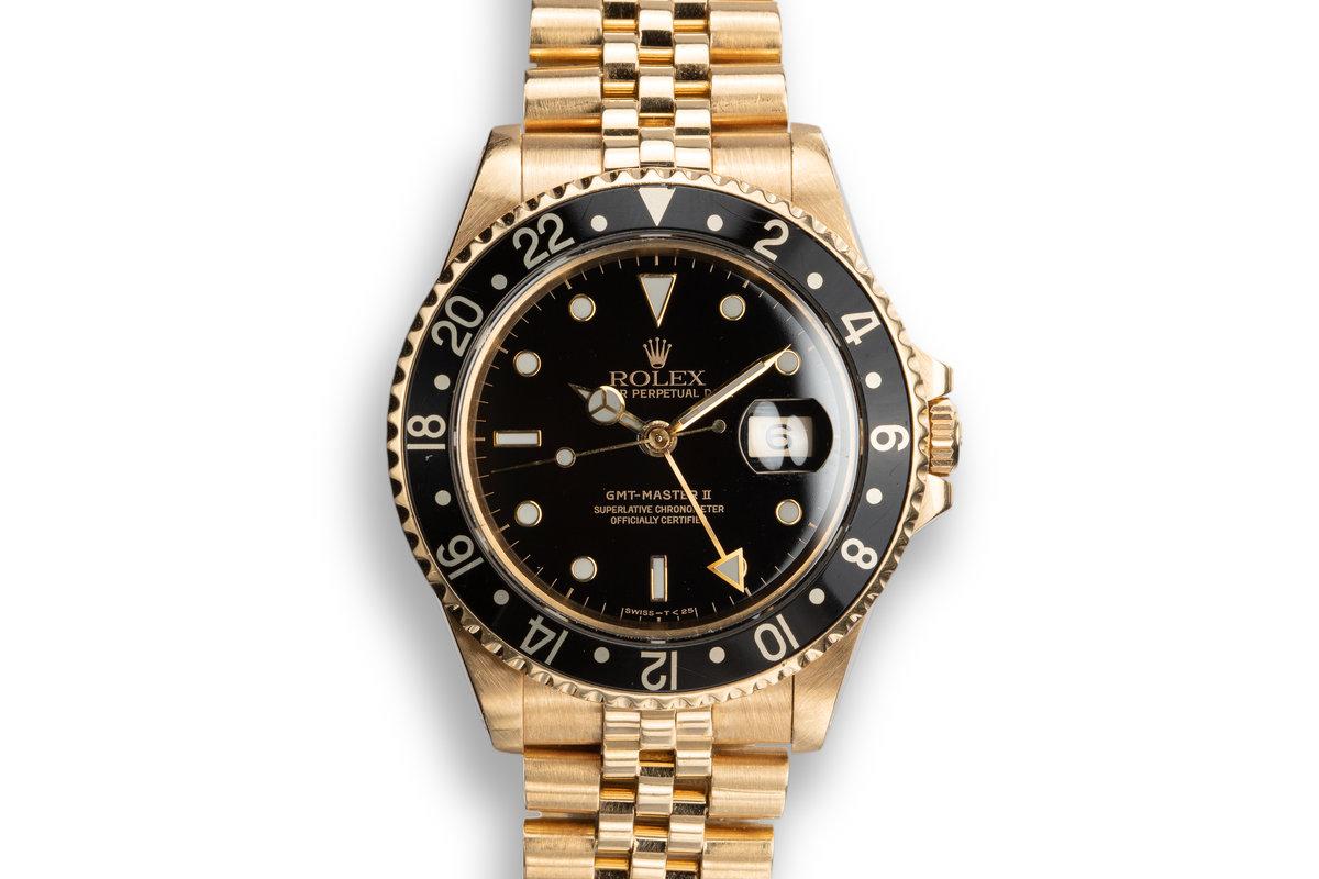 1990 Rolex 18K YG GMT-Master II 16718 photo, #0