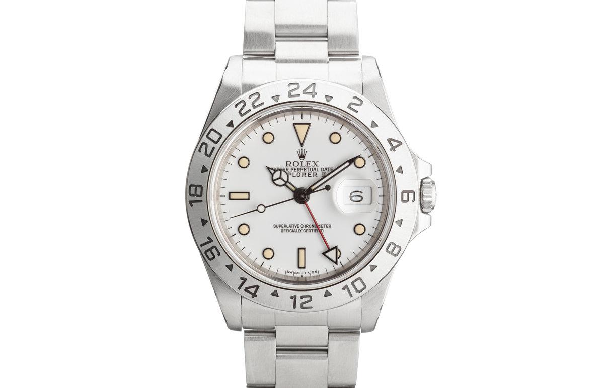 """1991 Rolex Explorer II 16570 """"Polar"""" White Dial photo, #0"""