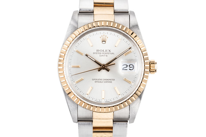 1988 Rolex Two Tone Date 15053 with Box and Papers photo