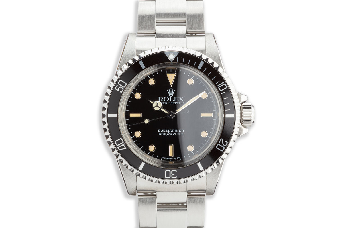 "1990 Vintage Rolex Submariner 5513 ""E"" Last Production of the 5513 with Service Box photo, #0"