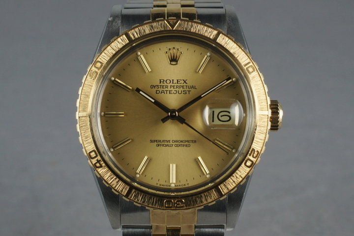 1987 Rolex 18K/SS DateJust Thunderbird 16253 photo