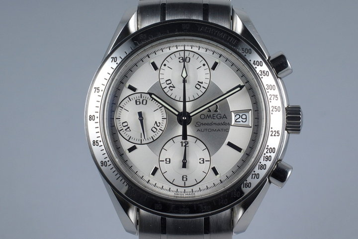 Early 2000's Omega Speedmaster Reduced Automatic Date 3513.30 Silver Dial photo