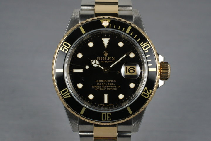 2007 Rolex Two Tone Submariner 16613LN with Box and Papers photo