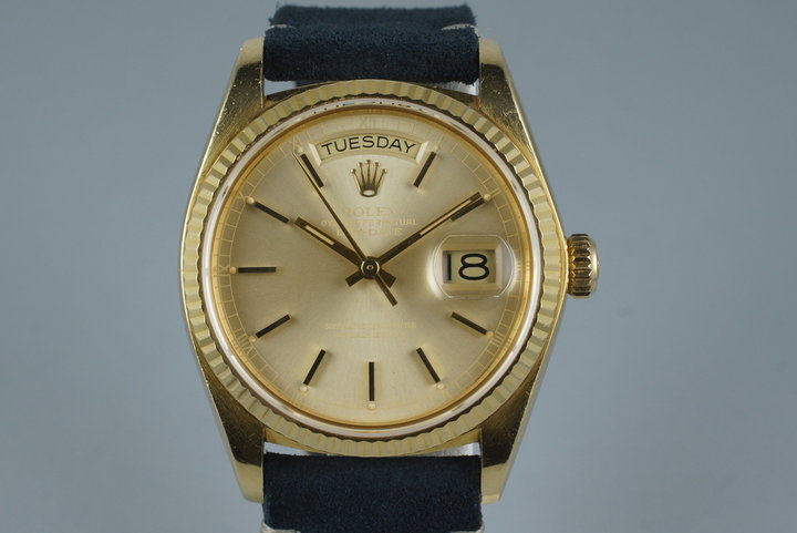 1978 Rolex YG Day Date 18038 with Albino Dial photo