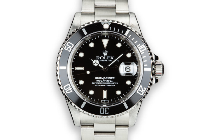 1999 Rolex Submariner 16610 SWISS Only Dial with Box and Papers photo
