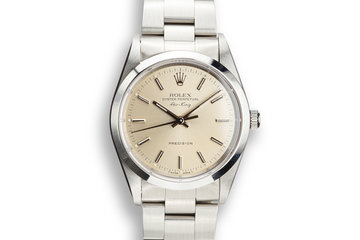1995 Rolex Air-King 14000 Silver Dial with Service Papers photo