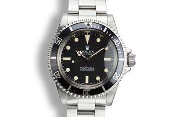 1975 Rolex Submariner 5513 Serif Dial photo