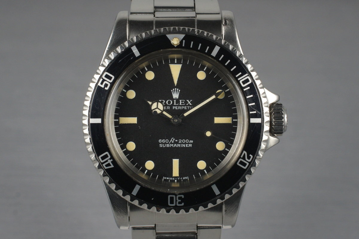 8148a1680732 HQ Milton - 1970 Vintage Rolex Submariner 5513 with Box and Papers ...