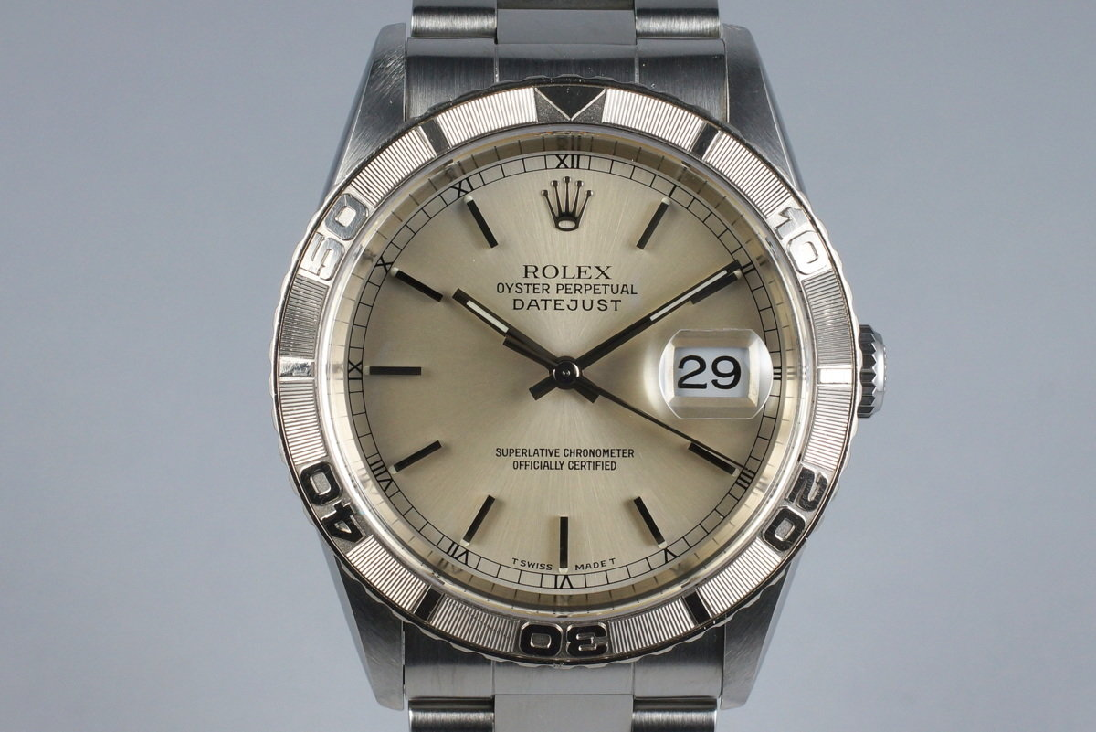 1999 Rolex DateJust 16264 Thunderbird with Box and Papers photo, #0
