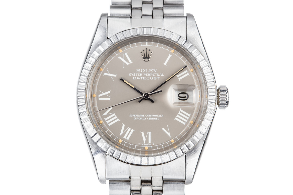 1973 Rolex DateJust 1603 with Grey Large Roman Numeral Dial photo, #0