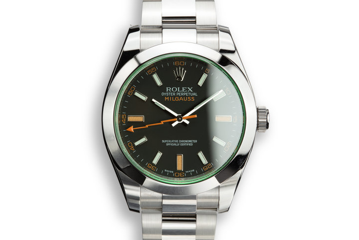 2009 Rolex Milgauss 116400V with Box and Papers photo