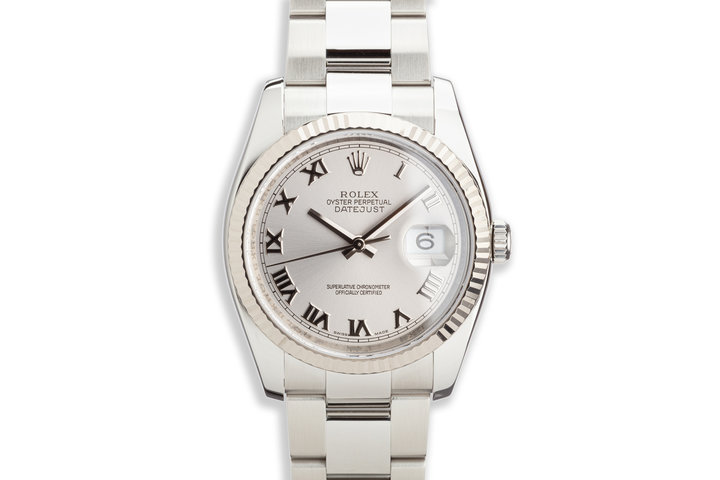 2007 Rolex Datejust 116234 Silver Roman Numeral Dial photo