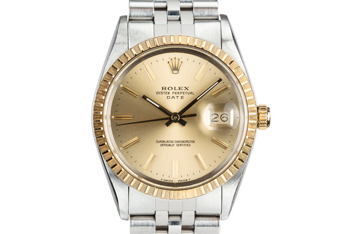 1985 Rolex Two-Tone Date 15053 with Box and Papers photo