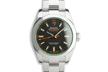 2014 Rolex Milgauss 116400GV Black Matte Dial with Box and Card photo