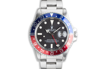 "1983 Vintage Rolex GMT-Master 16750 ""Pepsi"" Dial photo"