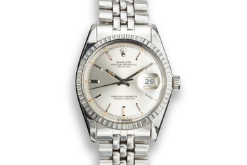 1974 Rolex DateJust 1603 Silver Sigma Dial with Box and Papers photo