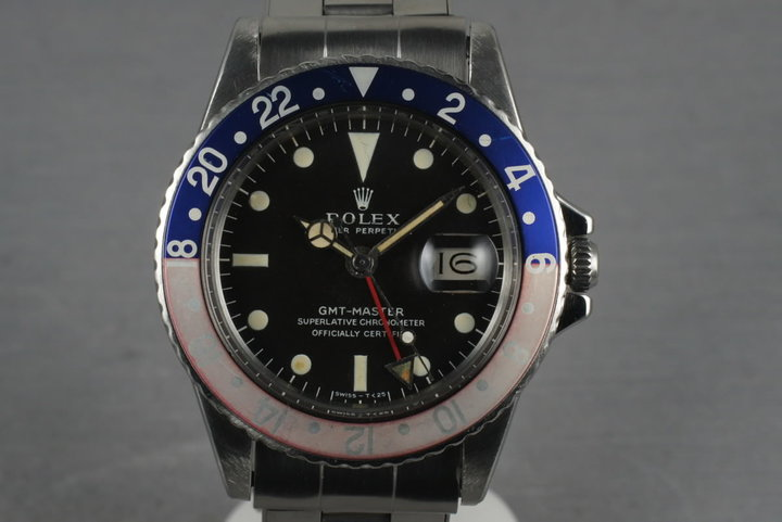 1968 Rolex GMT 1675 with  Mark 1 Dial Box and Papers photo