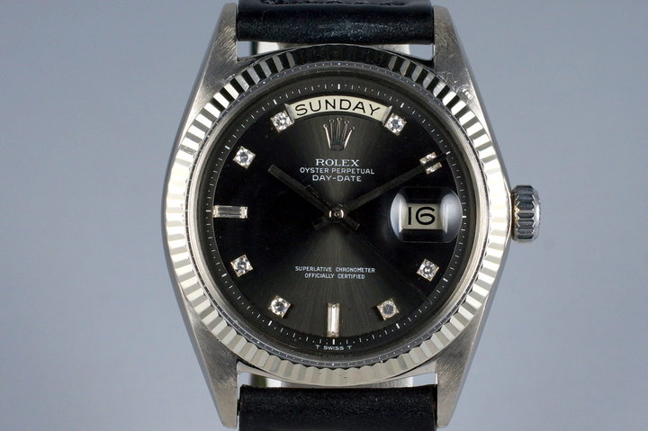 1964 Rolex WG Day-Date 1803 Factory Gray Diamond Dial photo