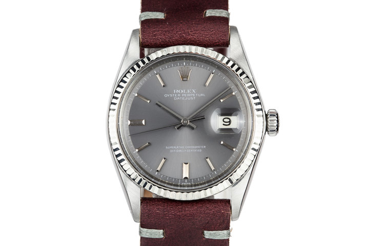 1969 Rolex DateJust 1601 with No Lume Grey Dial photo