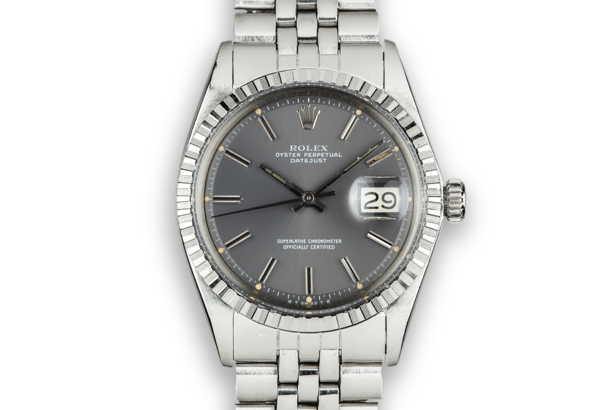 1973 Rolex DateJust 1603 with Grey Sigma Dial photo, #0
