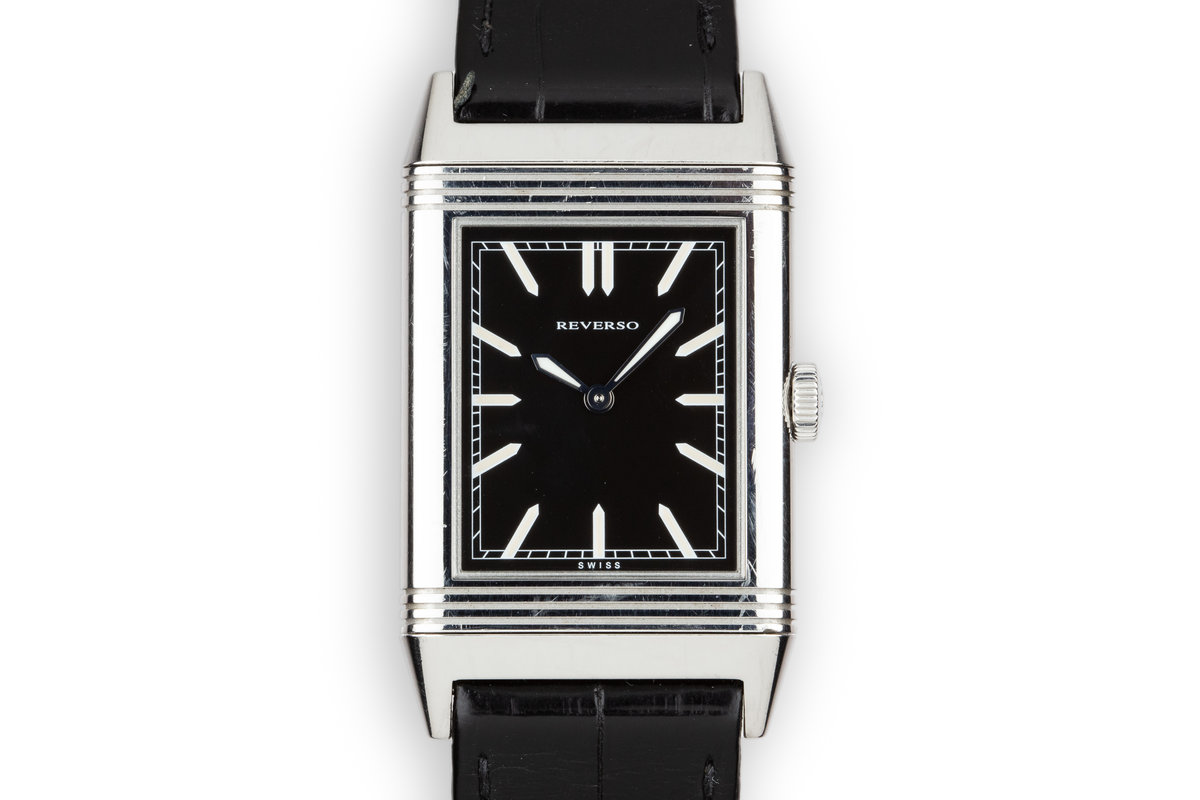 Jaeger LeCoultre Reverso 277.8.62 Black Dial with Box photo, #0