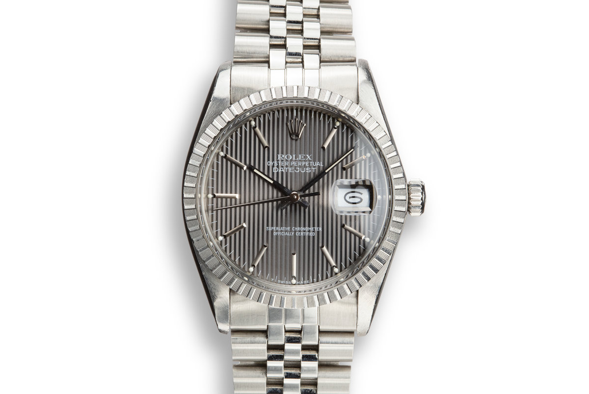 1984 Rolex DateJust 16030 with Grey Tapestry Dial photo, #0