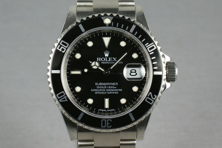 Rolex Submariner 16610 Box and Papers M serial photo