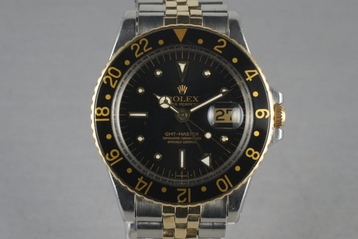 1970 Rolex GMT-Master 14K/SS with Gilt Nipple Dial 1675 photo
