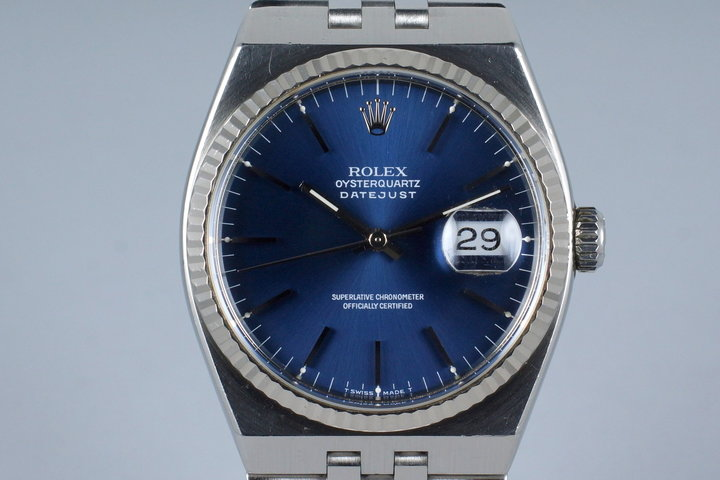 1991 Rolex OysterQuartz Datejust 17014 with Box and Papers photo