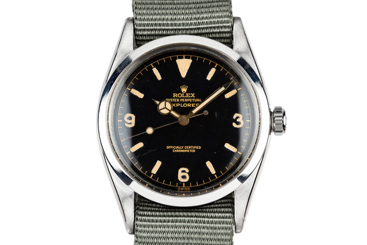 1958 Vintage Rolex Explorer I 6610 SWISS Only Gilt Dial photo