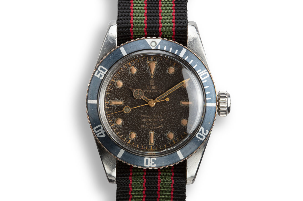 1958 Tudor Big Crown Submariner 7924 Gilt Dial with Service Papers photo, #0
