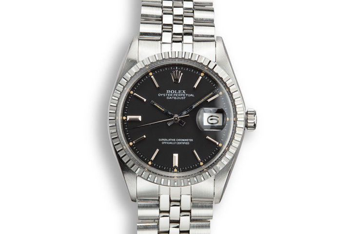 1973 Rolex DateJust 1601 Black Dial photo