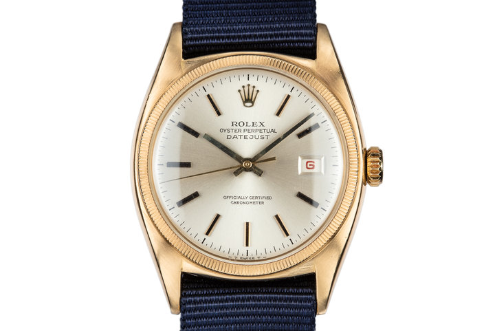 1952 Rolex 18K YG DateJust 6105 photo