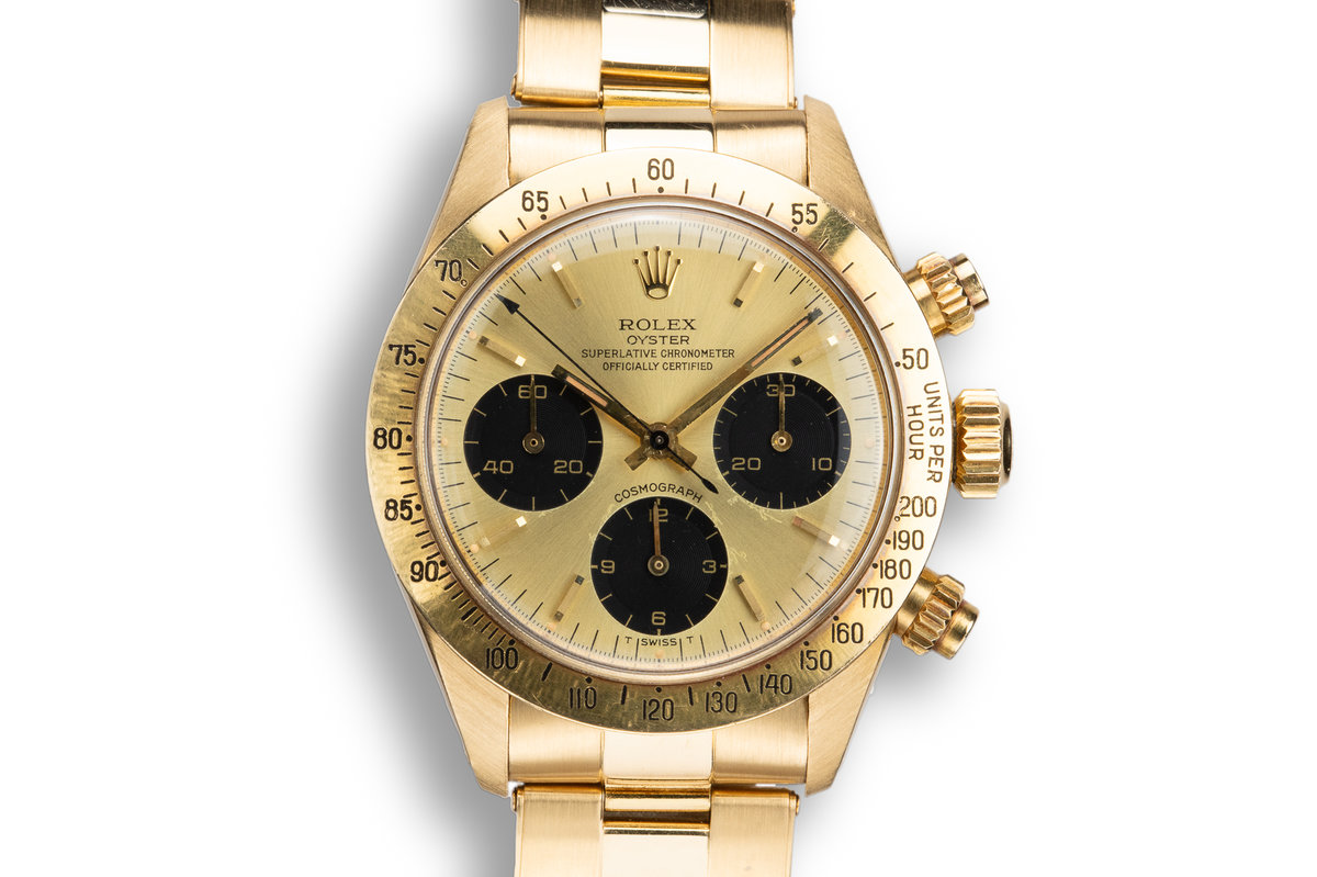 1979 Rolex 18K YG Daytona 6265 Champagne Dial with Box and Papers photo, #0