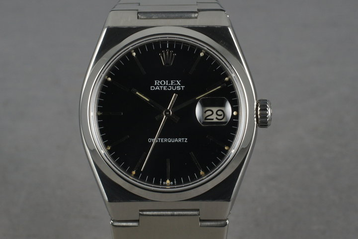 1978 Rolex Oysterquartz Steel 17000 Black Dial photo